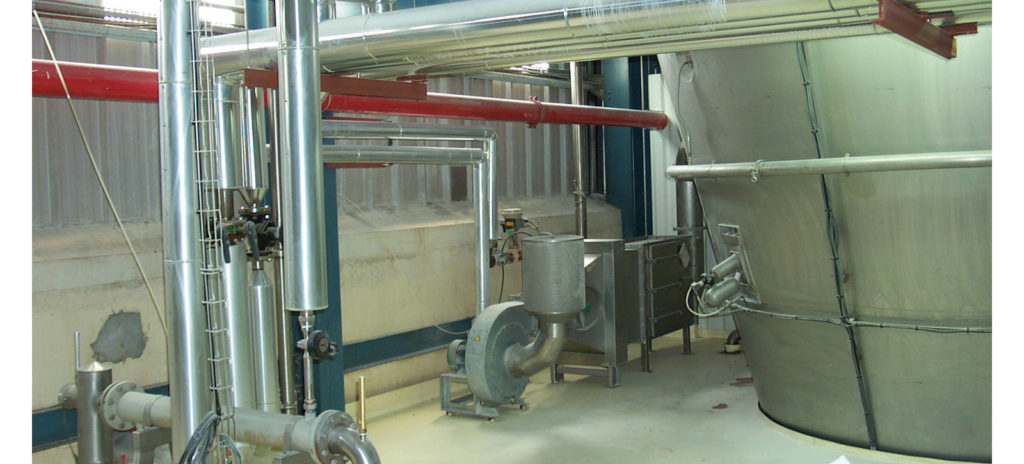 Spray drying tower